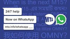 NYC Transit Now on WhatsApp