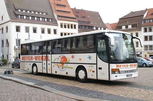 Setra S 315 UL Meyer Wenzl met kenteken MEK-MW 700 in Freiberg Sachsen