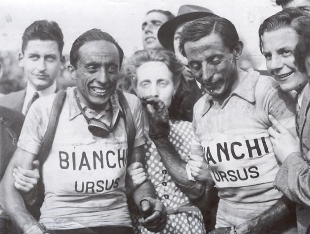 Serse Coppi con il fratello Fausto (1949)