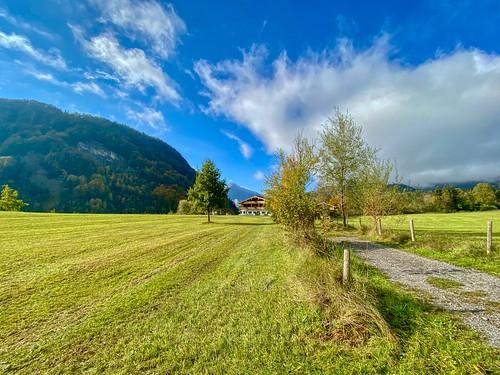 Autumn landscape in Breitenau near Kiefersfelden in Bavaria, Germany