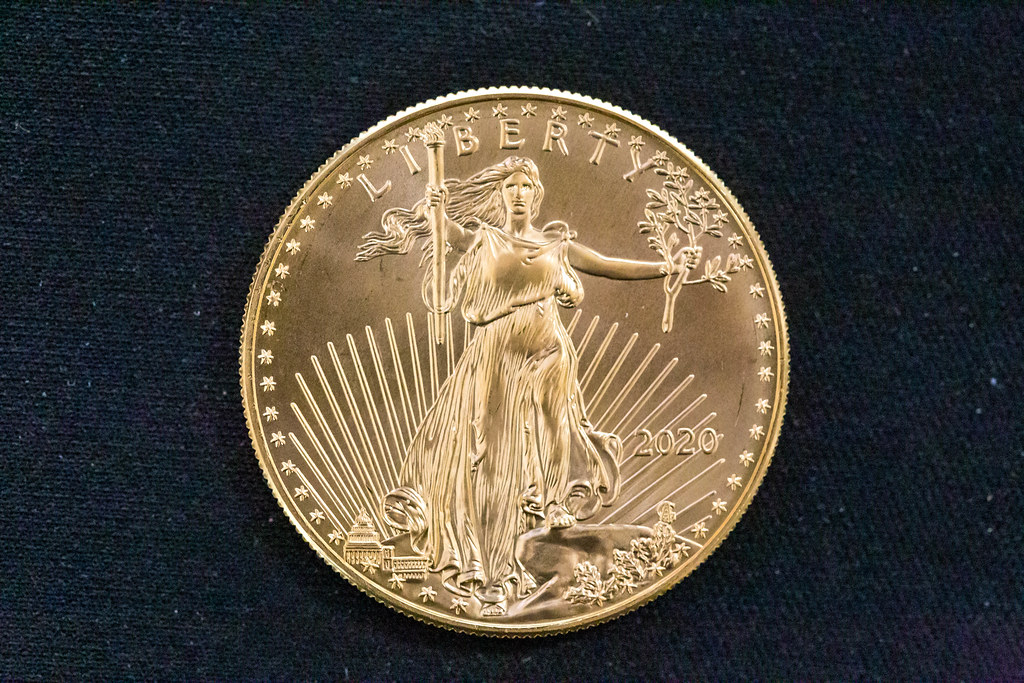 American Eagle 2020 Collectors Edition: Classic Lady Liberty printed on a 22 karat gold coin