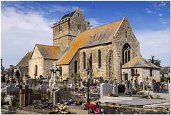 Eglise et cimetière de Genêts - Photo of Saint-Jean-le-Thomas