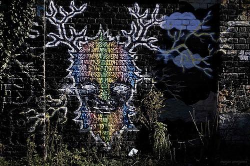 'Darkness', Street Art, Ghent, Belgium
