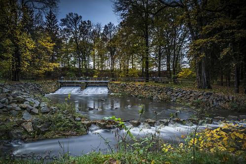 Das Schlosswehr am Hermsdorfer Park - ND1000 Langzeitaufnahme