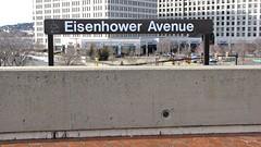 Station name sign at Eisenhower Avenue
