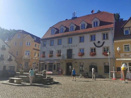 Town hall in Wehlen Square