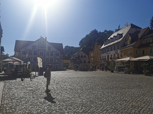 Dad in Wehlen town square