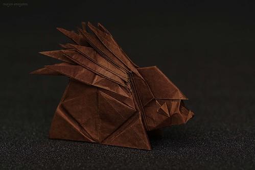 Origami Hedgehog  (Wonseon Seo AKA Redpaper)