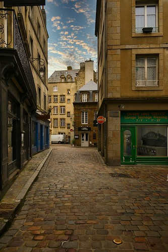 Saint-Malo / Rue de la Herse / Halle au Blé