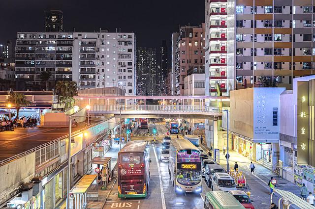 Night at Shek Kip Mei, Hong Kong