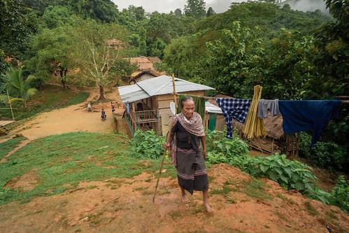 A tribal village in Bangladesh..