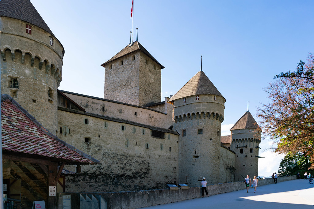 Château de Chillon castle in south Switzerland