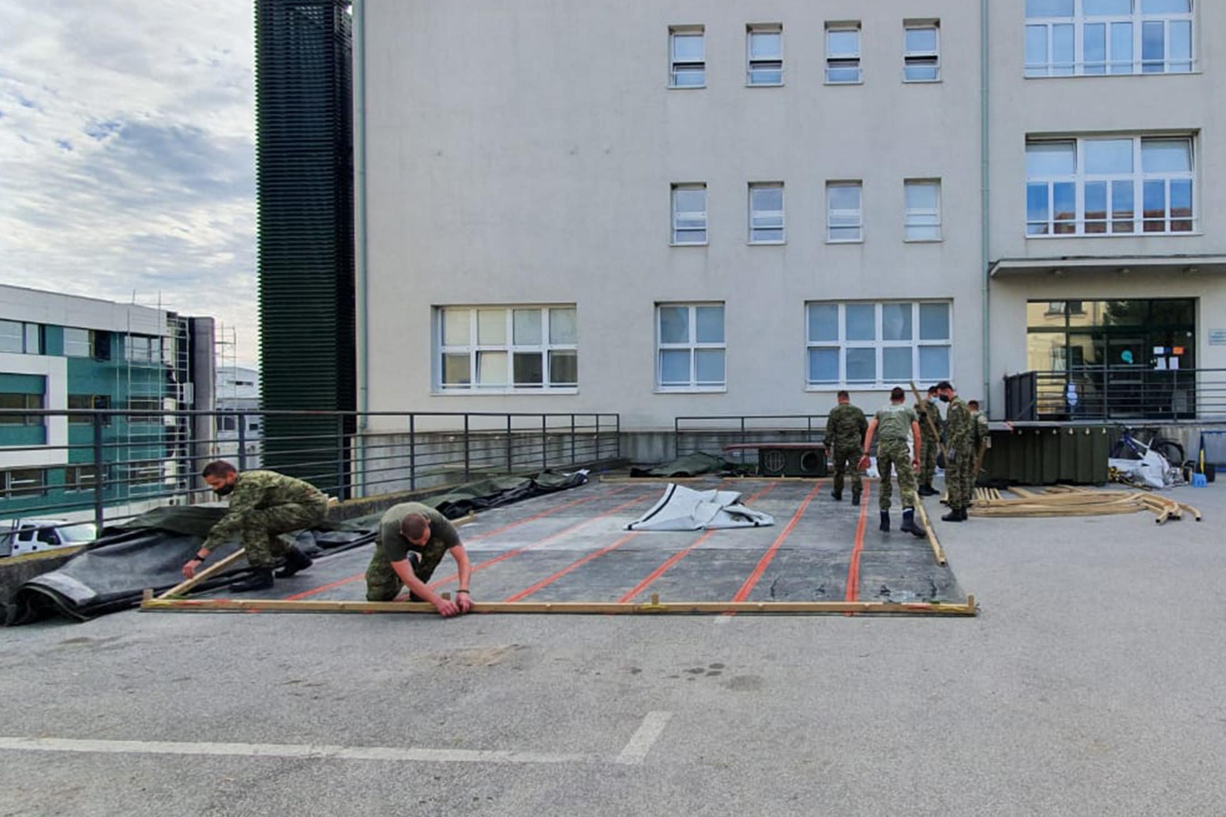 Hrvatska vojska postavlja šetor u Sisku