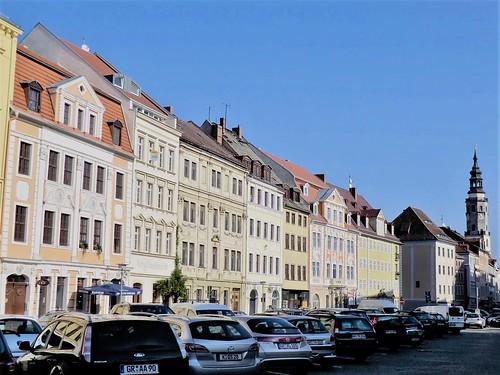 Görlitz:  Fine Baroque houses line the north side of the Obermarkt