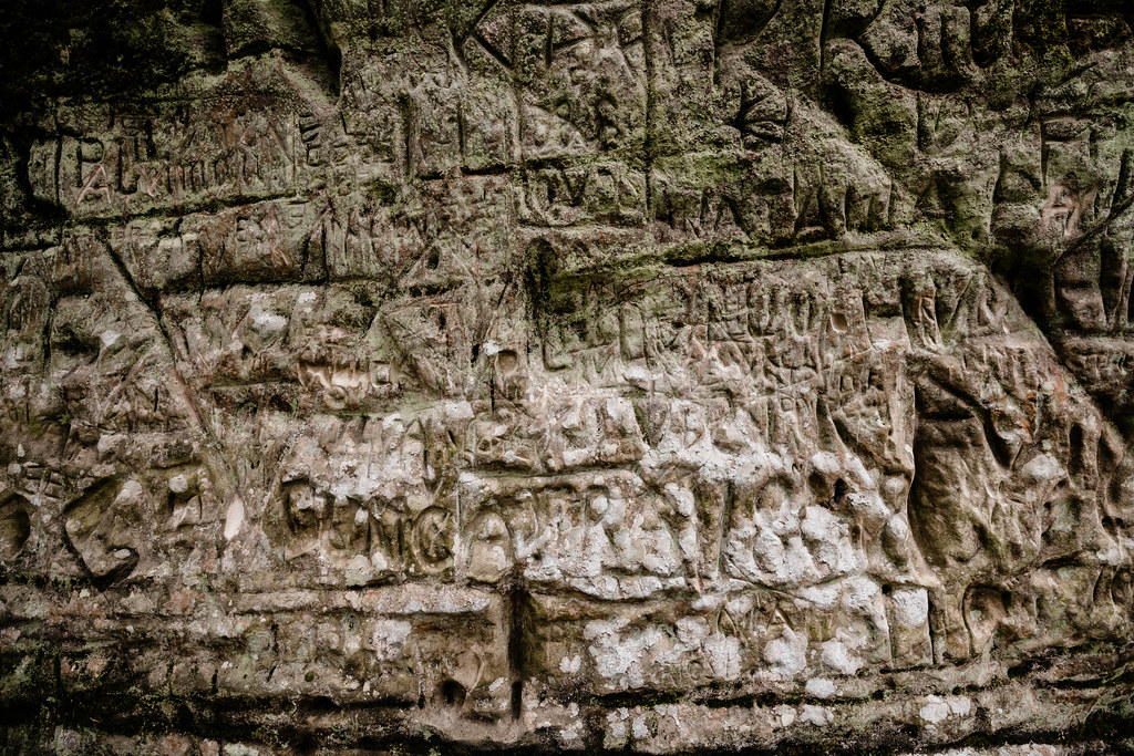White Sandstone Outcrop Engravings In Latvia