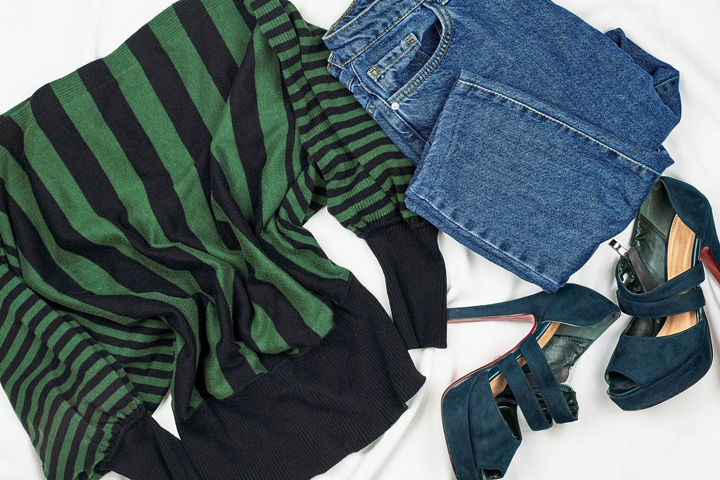 Set of women's outfits for autumn and winter