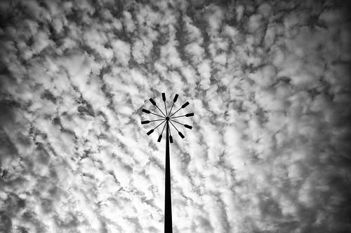 Pinwheel lighting, overcast day.