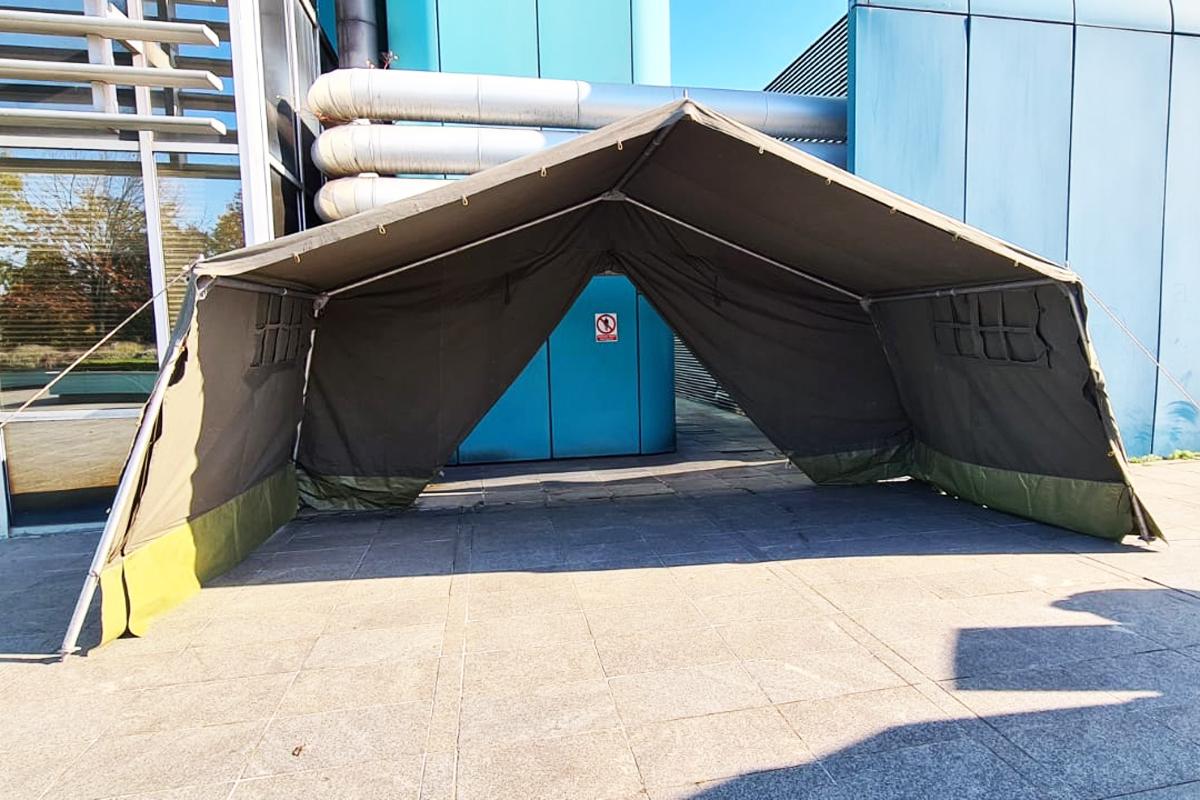 Hrvatska vojska postavila šatore Zagrebu