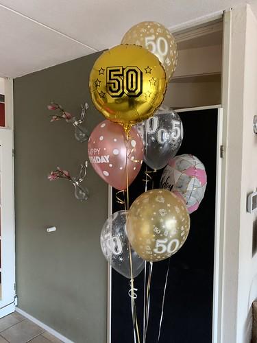 Ballonboeket Verjaardag 50 Jaar