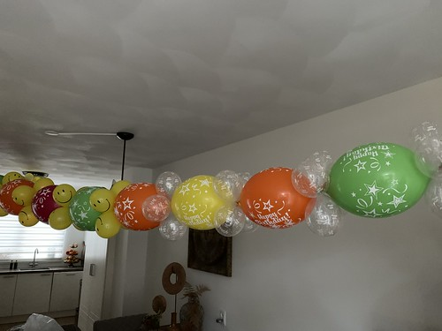 Ballonslinger van Doorknoopballonnen Verjaardag 50 Jaar