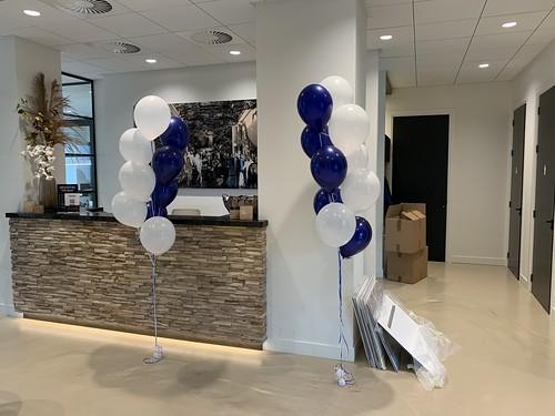 Tafeldecoratie 10ballonnen Gronddecoratie Aqualiner Zwijndrecht