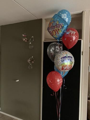 Ballonboeket Verjaardag 10 Jaar