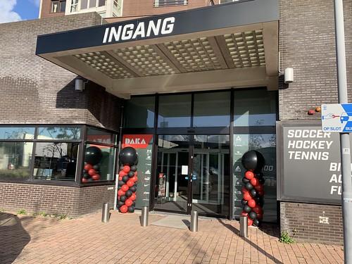 Ballonpilaar Breed Rond Opening Daka Sport Rotterdam