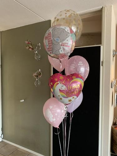 Ballonboeket Verjaardag 1 Jaar