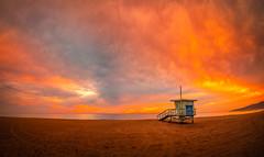 Zuma Beach Lifeguard Tower Hut Malibu Beach Sunset Fuji GFX 100 Fine Art Landscape Photography! Southern California Seascape Nature Ocean Art! Fine Art Seascape Nature Photography ! Elliot McGucken 45EPIC Fujifilm GFX100 Fujinon GF 23mm f/4 R LM WR Lens!