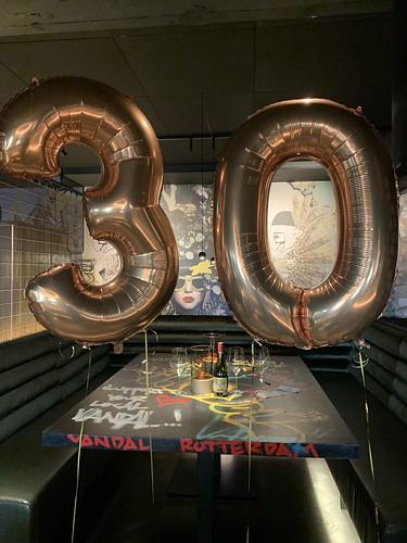 Folieballon Cijfer 30 Vandal Rotterdam