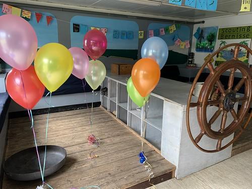 Tafeldecoratie 3ballonnen WSV Heenvliet