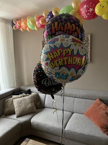 Tafeldecoratie 3ballonnen Folieballonnen Verjaardag 50 Jaar