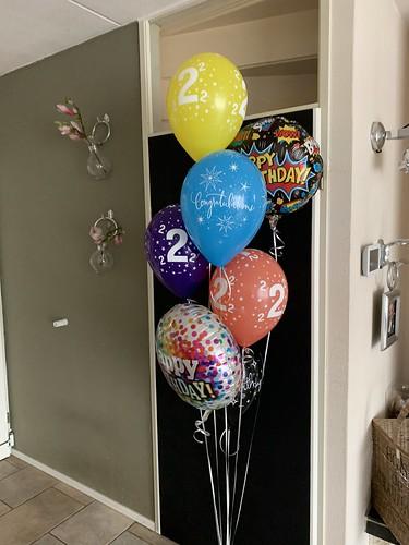 Ballonboeket Verjaardag 2 Jaar