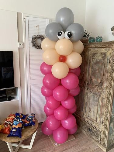 Ballonpilaar Breed Sarah Verjaardag 50 Jaar