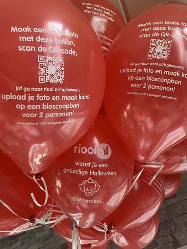 Heliumballonnen Halloween Riool.nl Leiden