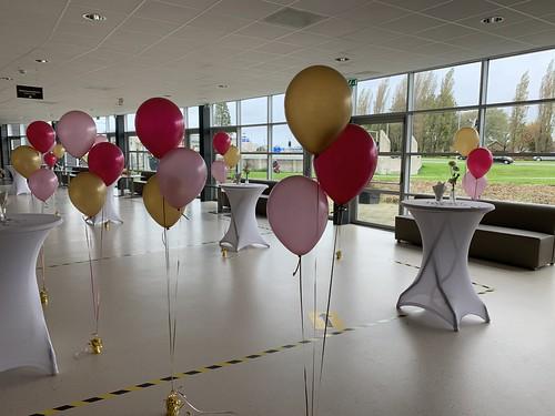 Tafeldecoratie 3ballonnen Gronddecoratie Levende Steen Ministries Spijkenisse