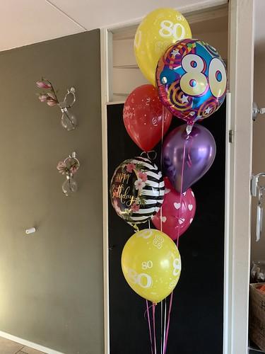 Ballonboeket Verjaardag 80 Jaar
