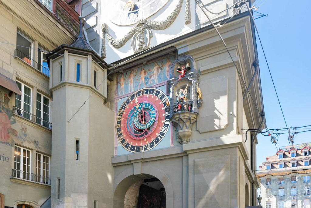 Zytglogge – a 13th century landmark medieval tower with a clock in Bern