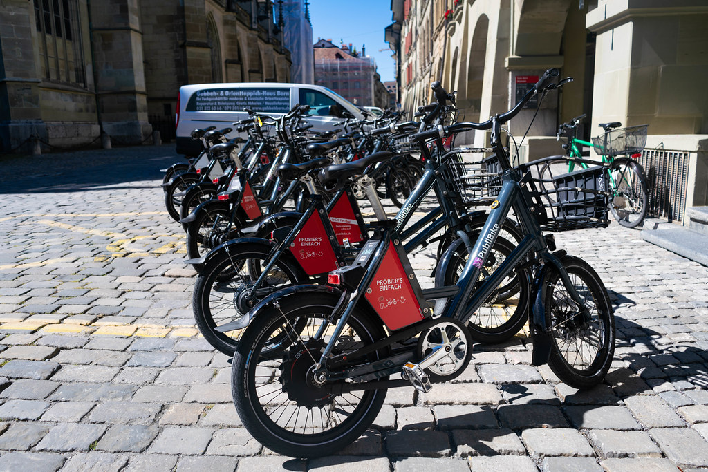 E-bikes sharing service PubliBike in the city of Bern