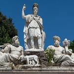 Fontaine de Neptune, Piazza del Popolo, Rome, 2020 - https://www.flickr.com/people/29248605@N07/