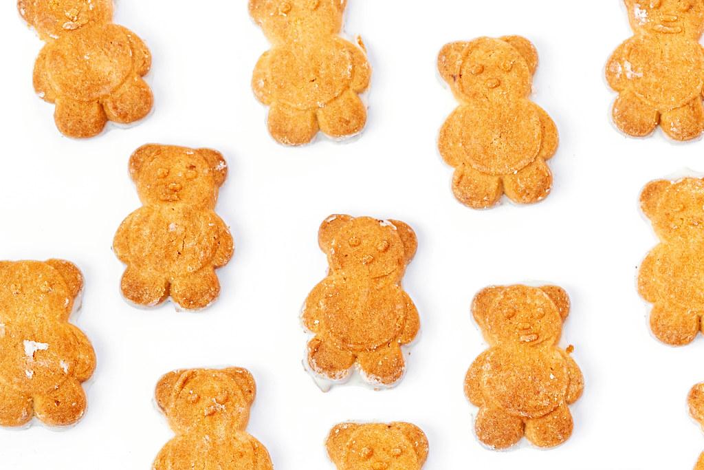 Shortbread little bears, top view