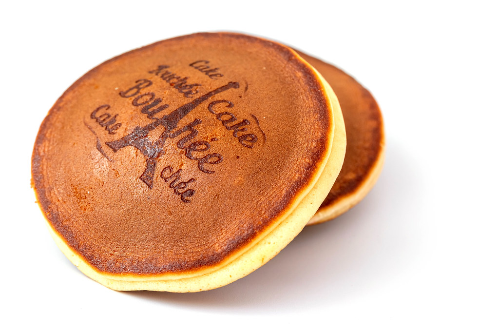 Round pancakes cakes with filling inside