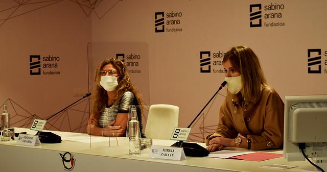 Photo:Gotzone Sagardui, consejera de Salud del Gobierno Vasco junto a Mireia Zarate, presidenta de Sabino Arana Fundazioa By sabinoaranafundazioa