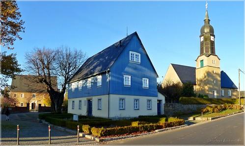 Dorfkirche, Pfarre und Karoline Rietschel-Haus in Gersdorf bei Kamenz