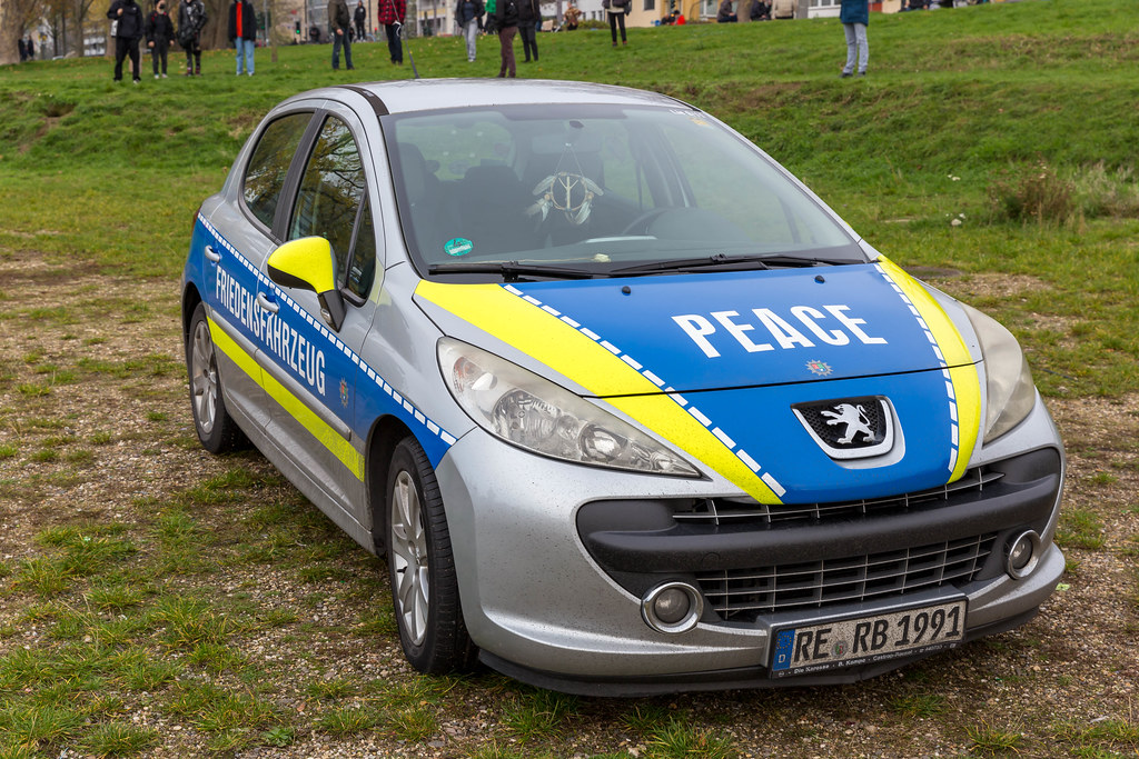 Fake police car with