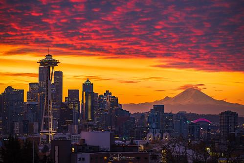 Seattle Skyline Sunrise