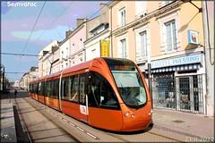 Alstom Citadis – Setram (Société d'Économie Mixte des TRansports en commun de l'Agglomération Mancelle) n°1001 (Désir)