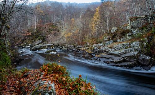 Black Water River, Rogie Falls, Ross-shire, Scotland.