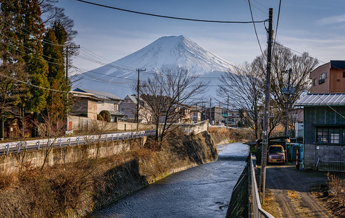 At the foot of Mt. Fuji