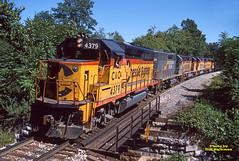 1986 09-13 1350 CS GP40-2-4377 W/B ORE, Monrovia, MD